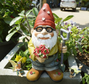 """The Beautiful Gift of Flower Gnome, part of our """"Large Garden Gnome Series"""". This Adorable Garden Gnome stands 9.5"""" tall and makes a great addition to any home or garden."""