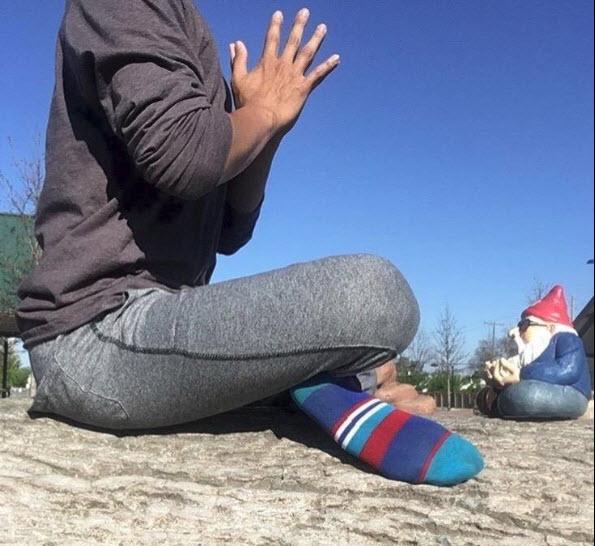 Ohm Gnome Yoga Pose 3 5-8-18
