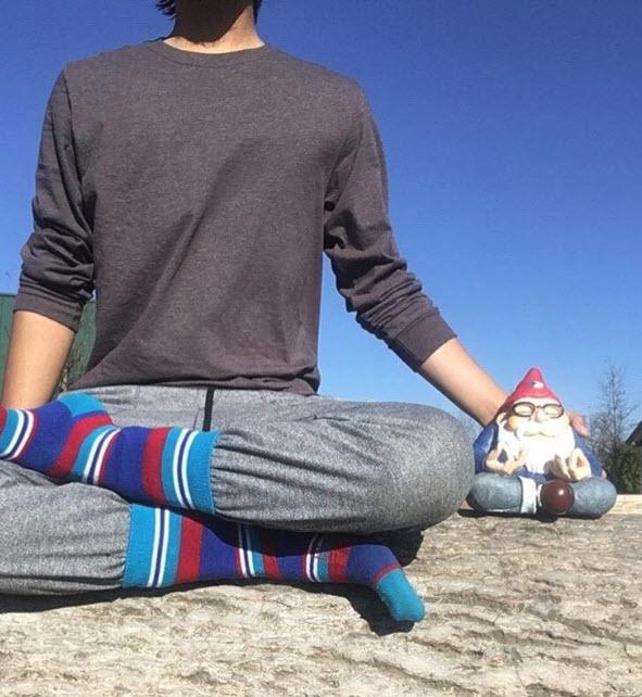 Ohm Gnome Yoga Pose 5-8-18