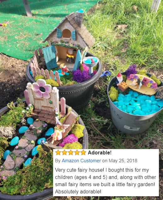 Twig and Flower Believe Fairy House 5-25-18