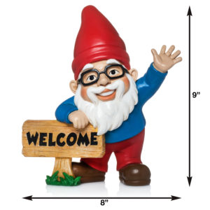 Wilbur the Friendly Welcome Gnome by Twig & Flower™