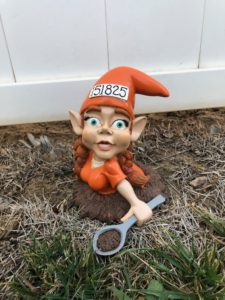 Twig and Flower Jenna the Jailbreak Gnome White Fench Escape